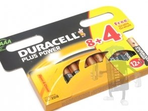 4 x Batterie  AAA Duracell MN 2400 Plus Power