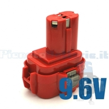 Batteria per MAKITA  9120 9122 6260 6261 D 6261D  9,6V / 2000 mAh / Ni-Cd