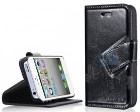 Custodia Bookstyle  iphone4 Nera