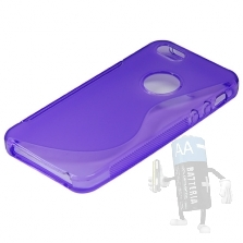 Custodia Silicone per Iphone5 Porpora