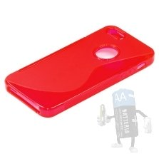 Custodia Silicone per Iphone5 Rossa